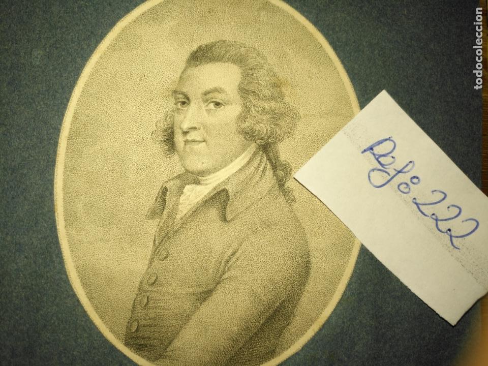 Arte: grabado original -poeta Edward Jerningham, 1727 - 1812. circa 1820 aproximadamente - Foto 2 - 168757912