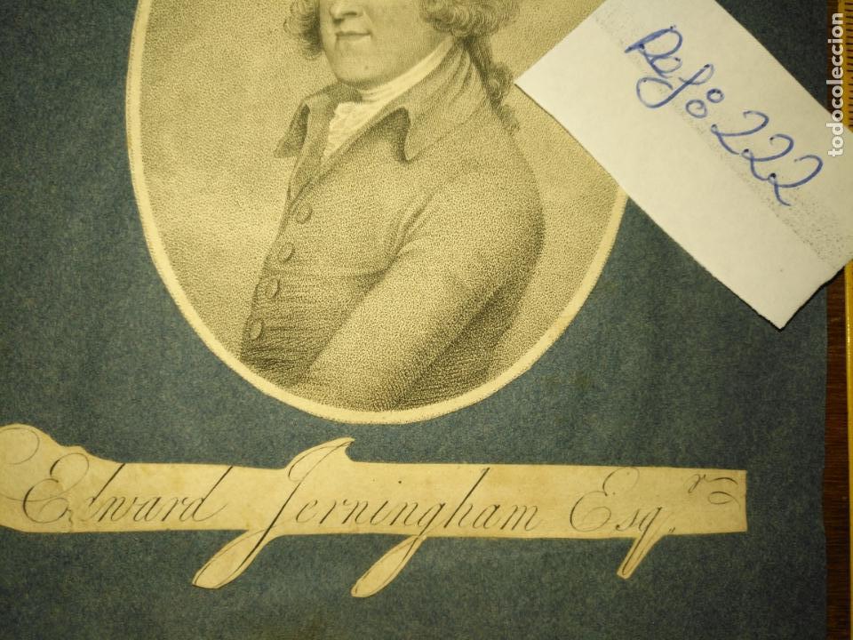 Arte: grabado original -poeta Edward Jerningham, 1727 - 1812. circa 1820 aproximadamente - Foto 3 - 168757912