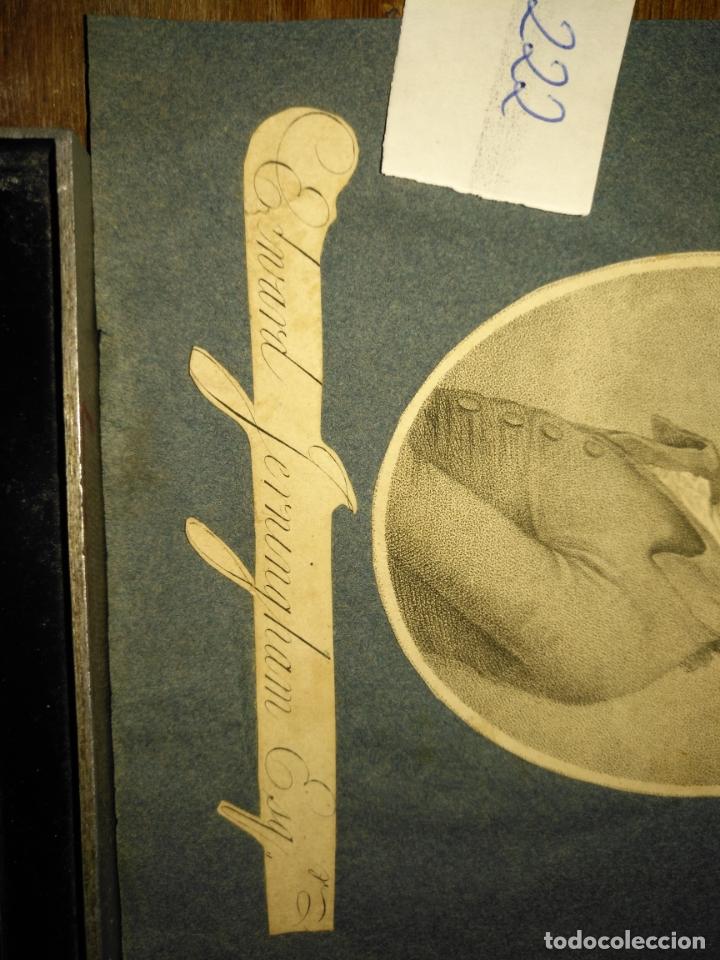 Arte: grabado original -poeta Edward Jerningham, 1727 - 1812. circa 1820 aproximadamente - Foto 6 - 168757912