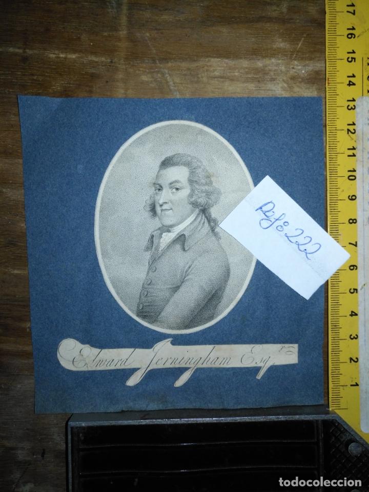 GRABADO ORIGINAL -POETA EDWARD JERNINGHAM, 1727 - 1812. CIRCA 1820 APROXIMADAMENTE (Arte - Pintura - Pintura al Óleo Antigua siglo XVIII)