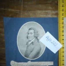 Arte: GRABADO ORIGINAL -POETA EDWARD JERNINGHAM, 1727 - 1812. CIRCA 1820 APROXIMADAMENTE. Lote 168757912