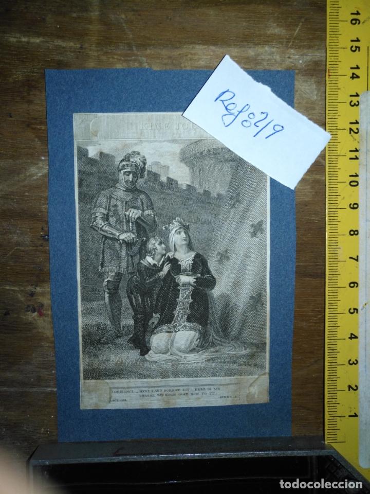 Arte: grabado original - Henry Siddons as the Earl of Salisbury in a scene from King John circa 1806 - Foto 2 - 168758288
