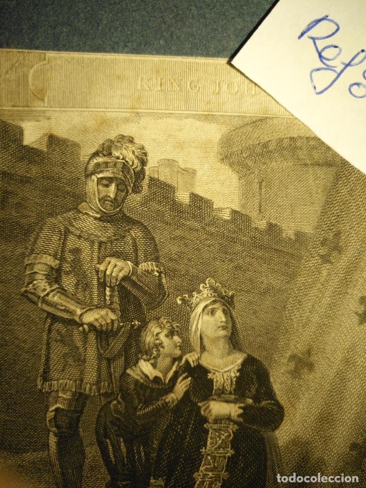 Arte: grabado original - Henry Siddons as the Earl of Salisbury in a scene from King John circa 1806 - Foto 3 - 168758288