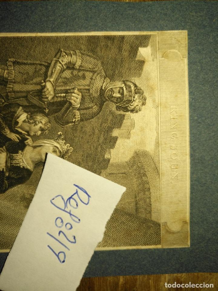 Arte: grabado original - Henry Siddons as the Earl of Salisbury in a scene from King John circa 1806 - Foto 4 - 168758288