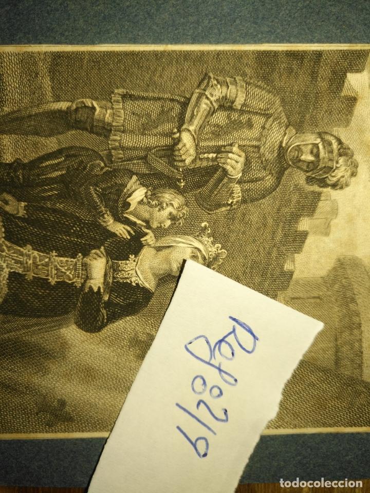 Arte: grabado original - Henry Siddons as the Earl of Salisbury in a scene from King John circa 1806 - Foto 5 - 168758288