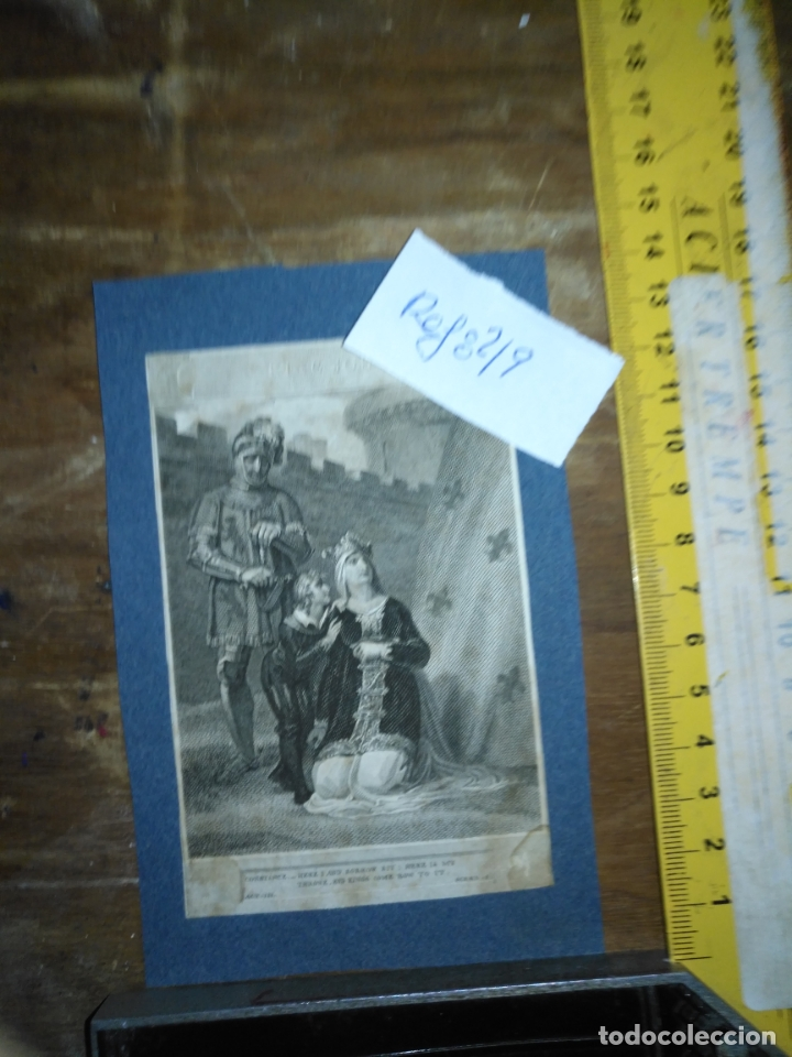GRABADO ORIGINAL - HENRY SIDDONS AS THE EARL OF SALISBURY IN A SCENE FROM KING JOHN CIRCA 1806 (Arte - Pintura - Pintura al Óleo Antigua siglo XVIII)