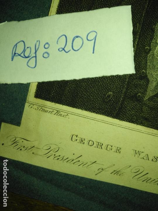 Arte: grabado original - george washington firt president of the united states of america grabado - Foto 4 - 168758660