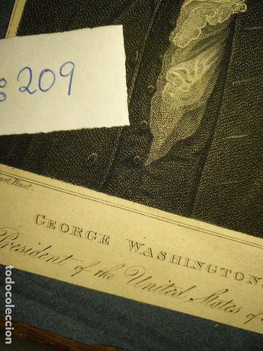 Arte: grabado original - george washington firt president of the united states of america grabado - Foto 5 - 168758660