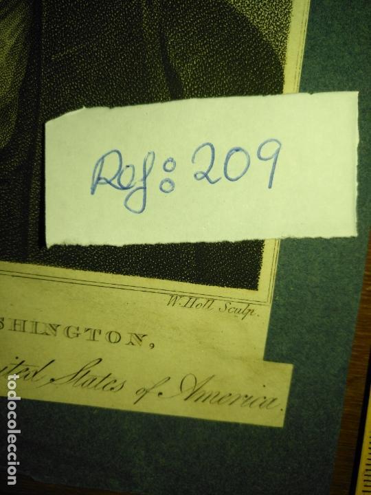 Arte: grabado original - george washington firt president of the united states of america grabado - Foto 6 - 168758660