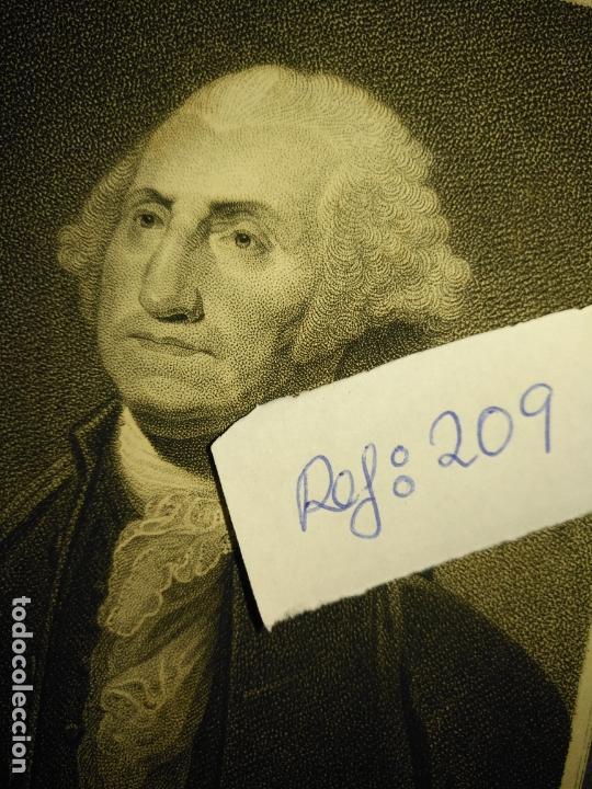 Arte: grabado original - george washington firt president of the united states of america grabado - Foto 7 - 168758660