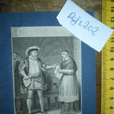 Arte: GRABADO ORIGINAL - HENRY VIII KING READ OER DER THIS SCENE - CIRCA 1807 APROXIMADAMENTE. Lote 168758844