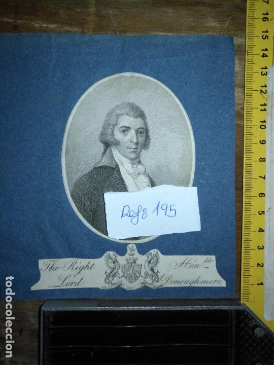 Arte: grabado original - the right lord - donoughmore , gerit crucem - primera decada de 1800 - Foto 6 - 168759112