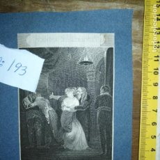 Arte: GRABADO ORIGINAL - BELVEDERA - YET HEAR ME. YET RECALL ME JAFFIER CIRCA 1920 APROXIMADAMENTE ,SCENE. Lote 168801872