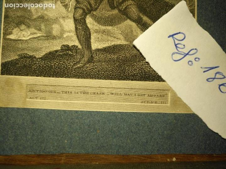 Arte: grabado original - Shakespeare's Bear winters tale 1820 antigonus this is the chase well may aboard - Foto 5 - 168802772