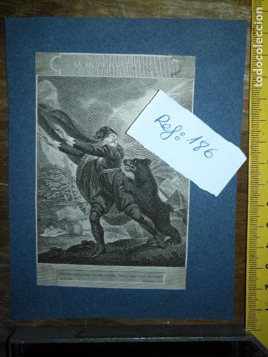 GRABADO ORIGINAL - SHAKESPEARE'S BEAR WINTERS TALE 1820 ANTIGONUS THIS IS THE CHASE WELL MAY ABOARD (Arte - Pintura - Pintura al Óleo Antigua siglo XVIII)