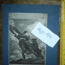 Arte: GRABADO ORIGINAL - SHAKESPEARE'S BEAR WINTERS TALE 1820 ANTIGONUS THIS IS THE CHASE WELL MAY ABOARD. Lote 168802772