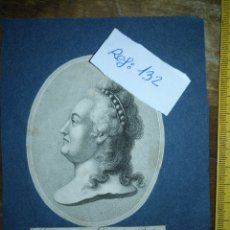 Arte: GRABADO ORIGINAL - 1819 ARPXO. CATHERINE II DE RUSIA - . Lote 168803436