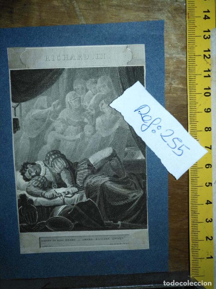 Arte: grabado original - 1819 arpxo. richard iii - aware - gost of ring henrry - Foto 2 - 168805900
