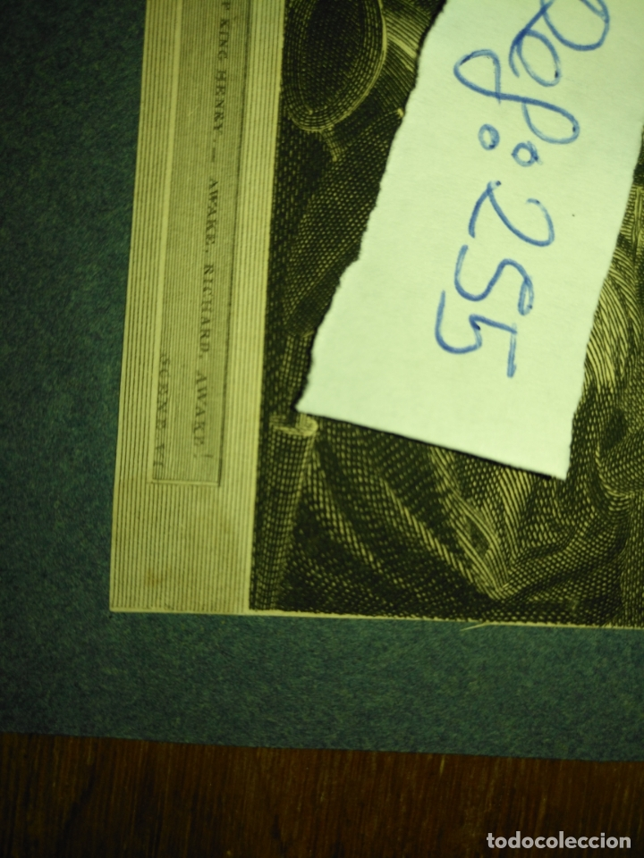 Arte: grabado original - 1819 arpxo. richard iii - aware - gost of ring henrry - Foto 5 - 168805900