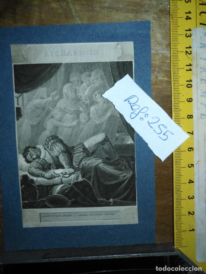 GRABADO ORIGINAL - 1819 ARPXO. RICHARD III - AWARE - GOST OF RING HENRRY (Arte - Pintura - Pintura al Óleo Antigua siglo XVIII)