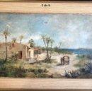 Arte: OLEO LIENZO RAFAEL HERNÁNDEZ PINTOR ALICANTE S.XIX ORIGINAL ANTIGUO. Lote 168806480