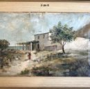 Arte: OLEO LIENZO RAFAEL HERNÁNDEZ PINTOR ALICANTE S.XIX ORIGINAL ANTIGUO. Lote 168806812
