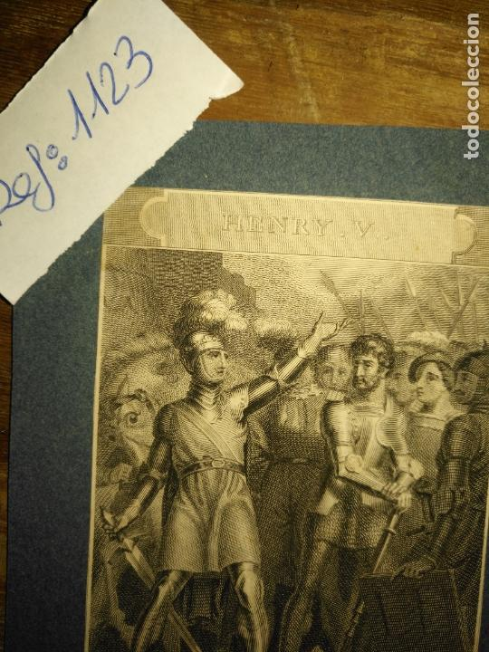 Arte: grabado original - 1820 arpxo. henry v , rather proclaim it westmorland - Foto 2 - 168808192
