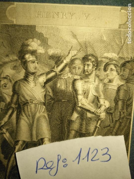 Arte: grabado original - 1820 arpxo. henry v , rather proclaim it westmorland - Foto 3 - 168808192