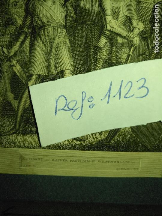 Arte: grabado original - 1820 arpxo. henry v , rather proclaim it westmorland - Foto 4 - 168808192