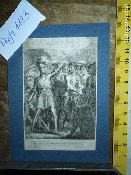 GRABADO ORIGINAL - 1820 ARPXO. HENRY V , RATHER PROCLAIM IT WESTMORLAND (Arte - Pintura - Pintura al Óleo Antigua siglo XVIII)