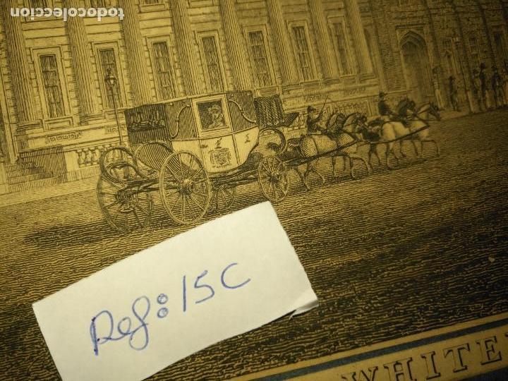 Arte: gran grabado original - VIEW OF THE NEW PUBLIC OFFICES, WHITEHALL 1827 - Foto 6 - 168808536