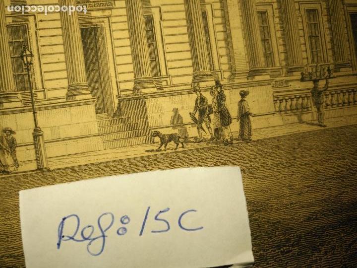 Arte: gran grabado original - VIEW OF THE NEW PUBLIC OFFICES, WHITEHALL 1827 - Foto 7 - 168808536