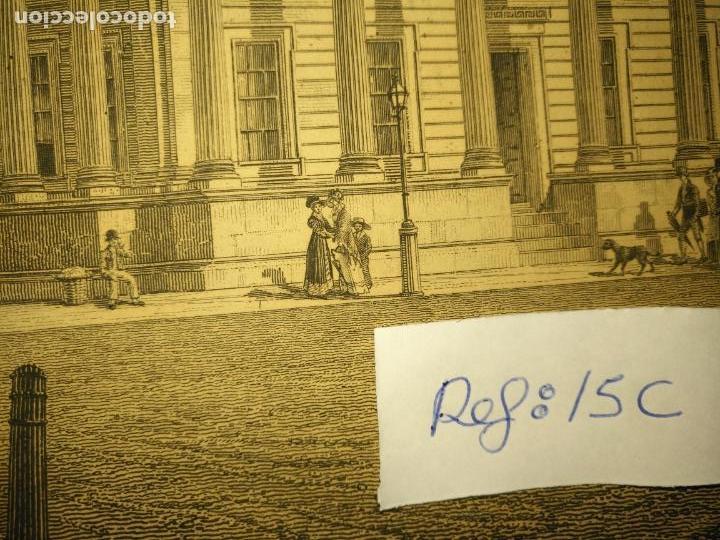 Arte: gran grabado original - VIEW OF THE NEW PUBLIC OFFICES, WHITEHALL 1827 - Foto 8 - 168808536