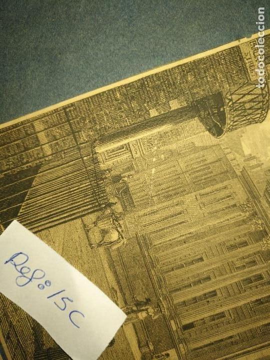 Arte: gran grabado original - VIEW OF THE NEW PUBLIC OFFICES, WHITEHALL 1827 - Foto 9 - 168808536