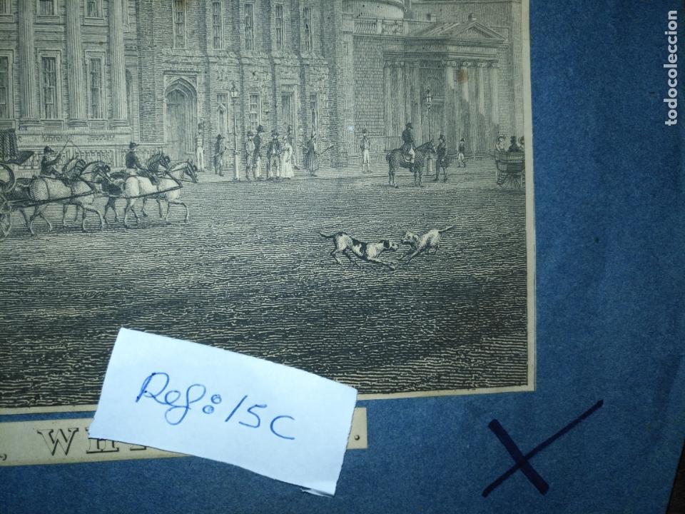Arte: gran grabado original - VIEW OF THE NEW PUBLIC OFFICES, WHITEHALL 1827 - Foto 12 - 168808536