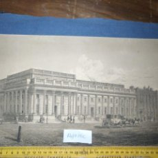 Arte: GRAN GRABADO ORIGINAL - VIEW OF THE NEW PUBLIC OFFICES, WHITEHALL 1827. Lote 168808536