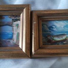 Arte: 2 CUADROS EN MINIATURA DE BENIDORM. Lote 168922310