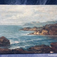 Arte: OLEO TABLA VISTA COSTERA FIRMADA PAUL DANGMANN 1899 1974 PPIO S XX 31X43CMS. Lote 168987628