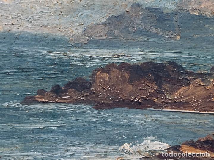 Arte: oleo tabla vista costera FIRMADA paul dangmann 1899 1974 ppio s XX 31X43CMS - Foto 2 - 168987628