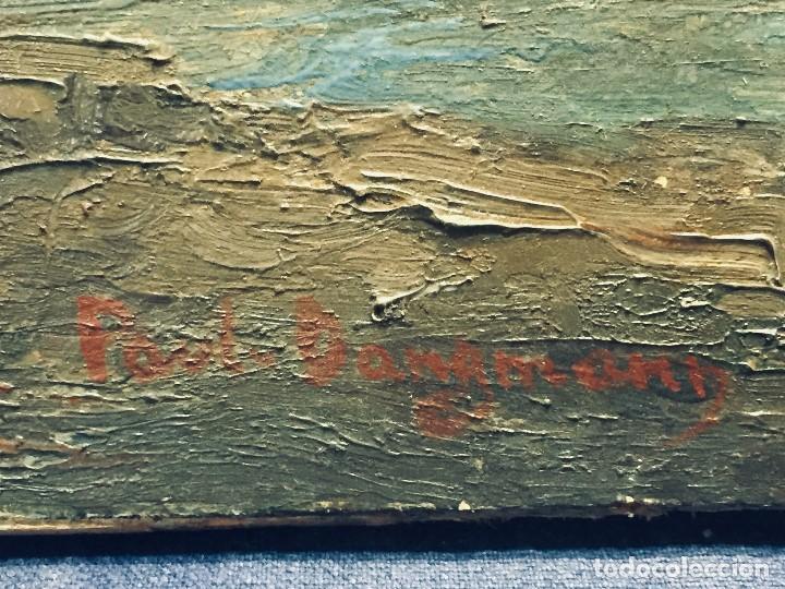 Arte: oleo tabla vista costera FIRMADA paul dangmann 1899 1974 ppio s XX 31X43CMS - Foto 3 - 168987628