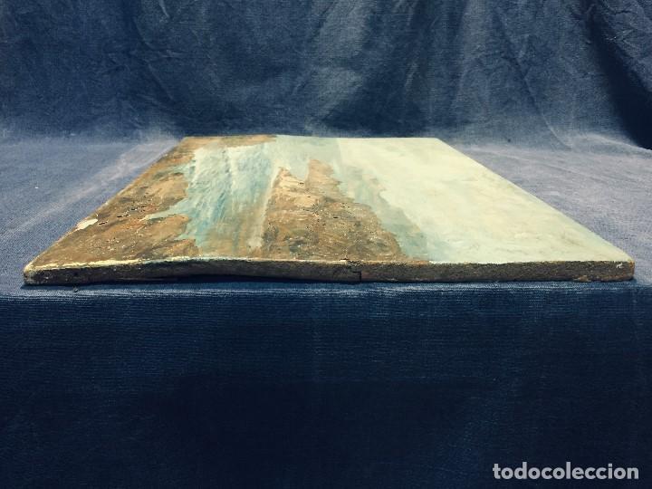 Arte: oleo tabla vista costera FIRMADA paul dangmann 1899 1974 ppio s XX 31X43CMS - Foto 7 - 168987628
