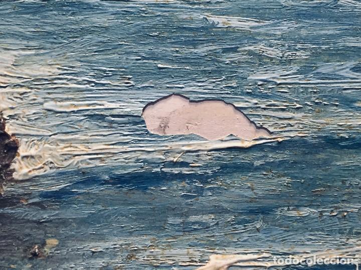 Arte: oleo tabla vista costera FIRMADA paul dangmann 1899 1974 ppio s XX 31X43CMS - Foto 8 - 168987628