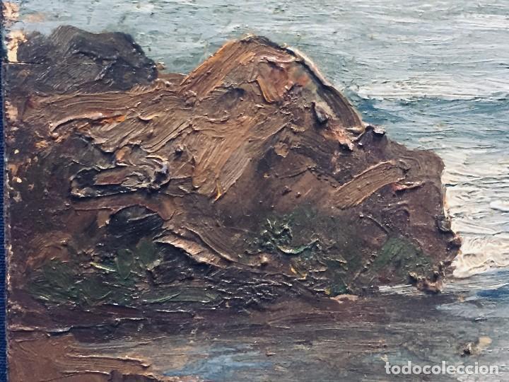 Arte: oleo tabla vista costera FIRMADA paul dangmann 1899 1974 ppio s XX 31X43CMS - Foto 9 - 168987628