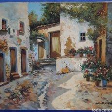 Arte: OLEO SOBRE LIENZO PAISAJE RURAL ANDALUZ FIRMADO J.MARSAL. Lote 169043353