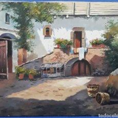 Arte: OLEO SOBRE LIENZO PAISAJE RURAL ANDALUZ FIRMADO J.MARSAL. Lote 169044202