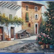Arte: OLEO SOBRE LIENZO PAISAJE RURAL ANDALUZ FIRMADO J.MARSAL. Lote 169044361