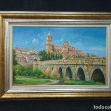 Arte: VISTA DE SALAMANCA POR EL ARTISTA F.SANCHIS. Lote 169124024