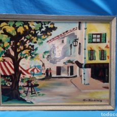 Arte: CUADRO PINTADO AL OLEO AL PARECER EN TABLA, 1973, FIRMADO M. J. ALCINA, 48 X 38 CM. Lote 169168680