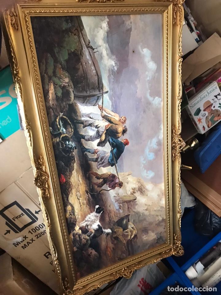 Arte: Cuadro pesquero pan de oro óleo 1,41x75 - Foto 10 - 167504377