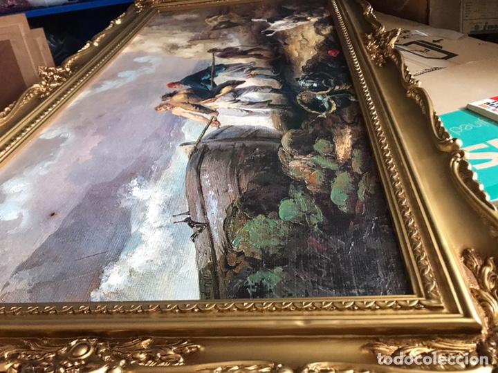 Arte: Cuadro pesquero pan de oro óleo 1,41x75 - Foto 9 - 167504377
